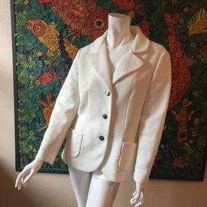 Vtg 70s BLEEKER ST Ivory Blazer Jacket Women's M
